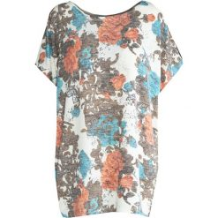 T-shirty damskie: Biało-Pomarańczowa T-shirt My Kind of Crazy