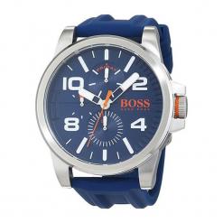 """Zegarek """"1550008"""" w kolorze srebrno-granatowym. Niebieskie zegarki męskie Hugo Boss, Festina & Joop!, ze stali. W wyprzedaży za 659,95 zł."""