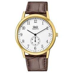 Zegarek Q&Q Męski Klasyczny QA60-104 Pasek brązowy. Brązowe zegarki męskie Q&Q. Za 117,80 zł.