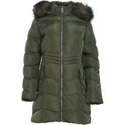 Ciemnozielona Kurtka Behind Mirror. Czarne kurtki damskie pikowane marki Born2be, na zimę, l, z kapturem. Za 204,99 zł.