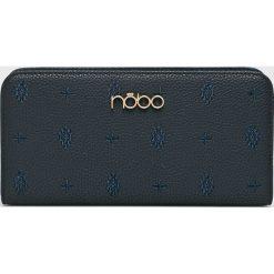Nobo - Portfel. Czarne portfele damskie Nobo, w paski, z materiału. W wyprzedaży za 99,90 zł.