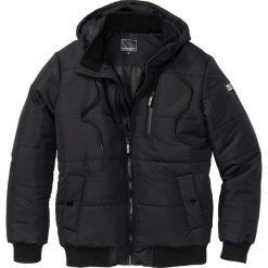 Kurtka pikowana Regular Fit bonprix czarny. Czarne kurtki męskie pikowane marki bonprix, na zimę, m. Za 249,99 zł.
