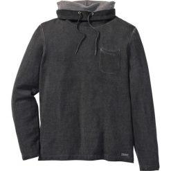 Swetry męskie: Sweter z szalowym kołnierzem Slim Fit bonprix antracytowy