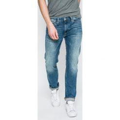 Calvin Klein Jeans - Jeansy. Niebieskie jeansy męskie slim marki Calvin Klein Jeans, z bawełny. W wyprzedaży za 339,90 zł.