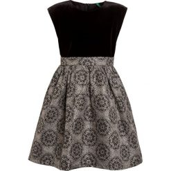 Sukienki dziewczęce z falbanami: Benetton DRESS Sukienka koktajlowa black