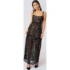 Długie sukienki: For Love & Lemons Sukienka maxi na ramiączkach Beatrice - Black