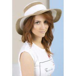 Kapelusze damskie: Dwubarwny kapelusz z kokardą