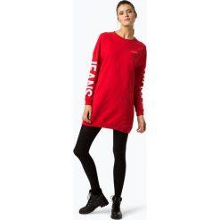 Calvin Klein Jeans - Sukienka damska, czerwony. Szare sukienki dresowe marki bonprix, melanż, z kapturem, z długim rękawem, maxi. Za 479,95 zł.