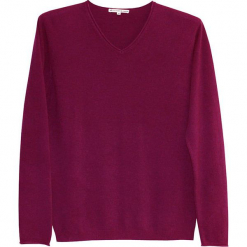 Sweter kaszmiirowy w kolorze jagodowym. Czerwone swetry klasyczne męskie Ateliers de la Maille, m, z kaszmiru, z okrągłym kołnierzem. W wyprzedaży za 500,95 zł.
