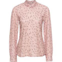 Bluzki damskie: Bluzka w kwiaty bonprix jasnoróżowy vintage w kwiatki