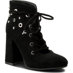 Botki JENNY FAIRY - WS42351 Czarny. Czarne buty zimowe damskie Jenny Fairy, z materiału, na obcasie. Za 119,99 zł.