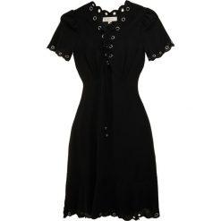 MICHAEL Michael Kors GROMMET NECKLINE  Sukienka koktajlowa black/silver. Czarne sukienki koktajlowe marki MICHAEL Michael Kors, m, z elastanu. Za 949,00 zł.