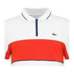Lacoste Sport Koszulka polo white/pomegrenate/inkwell. Białe koszulki polo Lacoste Sport, l, z bawełny. Za 459,00 zł.