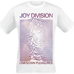 Joy Division Unknown Pleasures Space T-Shirt biały. Białe t-shirty męskie marki Joy Division, s. Za 62,90 zł.