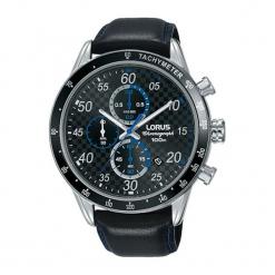 """Zegarek """"RM341EX9"""" w kolorze czarnym. Czarne, analogowe zegarki męskie marki Lorus, Pulsar, ze stali. W wyprzedaży za 259,95 zł."""