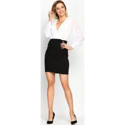 Biało-Czarna Sukienka Seductive Back. Czarne sukienki mini marki Mohito, l, z dekoltem na plecach. Za 89,99 zł.