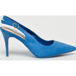 Answear - Czółenka G2G. Szare buty ślubne damskie marki ANSWEAR, z materiału, na obcasie. W wyprzedaży za 79,90 zł.