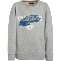Napapijri BOGLY  Bluza light grey melange. Szare bluzy chłopięce marki Napapijri, l, z materiału, z kapturem. Za 239,00 zł.