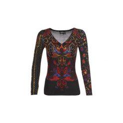 Swetry Desigual  NEVADA. Szare swetry klasyczne damskie marki Desigual, l, z tkaniny, casualowe, z długim rękawem. Za 278,10 zł.