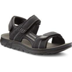 Sandały LANETTI - MS17009-2 Czarny. Czarne sandały męskie skórzane Lanetti. W wyprzedaży za 59,99 zł.