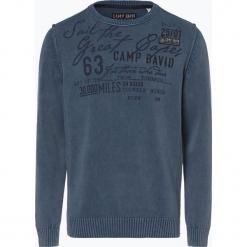 Camp David - Sweter męski, niebieski. Niebieskie swetry klasyczne męskie Camp David, m, z aplikacjami, z bawełny. Za 449,95 zł.