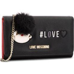 Duży Portfel Damski LOVE MOSCHINO - JC5537PP16LK0000 Nero. Czarne portfele damskie Love Moschino, ze skóry ekologicznej. Za 529,00 zł.
