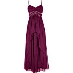 Długie sukienki: Długa sukienka bonprix jeżynowy