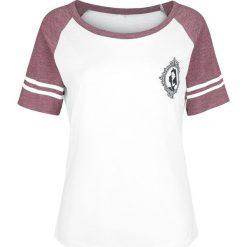 Alicja w Krainie Czarów A. Kingsleigh 51 Koszulka damska biały/burgundowy melanż. Białe bluzki z odkrytymi ramionami Alicja w Krainie Czarów, xl, melanż. Za 74,90 zł.