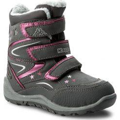 Kozaki dziewczęce: Śniegowce KAPPA – Stellar Tex 260559K Grey/Pink 1622