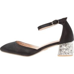 Czółenka: Lost Ink AVINA JEWELLED HEEL LOW COURT Czółenka black