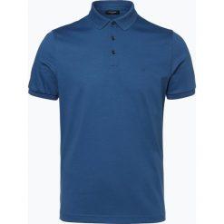 Calvin Klein - Męska koszulka polo, niebieski. Pomarańczowe koszulki polo marki Calvin Klein, l, z bawełny, z okrągłym kołnierzem. Za 199,95 zł.