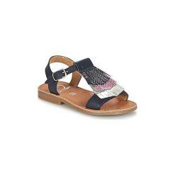 Sandały Dziecko  Shoo Pom  HAPPY FRINGE. Niebieskie sandały dziewczęce Shoo Pom. Za 223,20 zł.