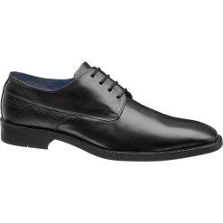 Eleganckie buty męskie Claudio Conti czarne. Czarne buty wizytowe męskie Claudio Conti, z materiału, na sznurówki. Za 111,00 zł.