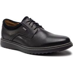 Półbuty CLARKS - Un Geo LaceGtx GORE-TEX 261369397 Black Leather. Czarne półbuty skórzane męskie marki Clarks. W wyprzedaży za 379,00 zł.