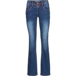 Miękkie dżinsy BOOTCUT bonprix niebieski. Niebieskie boyfriendy damskie bonprix. Za 149,99 zł.