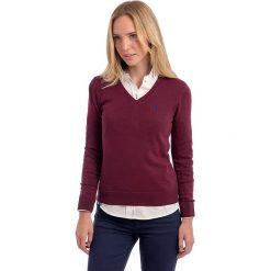 Swetry klasyczne damskie: Sweter w kolorze bordowym