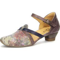 """Sandały damskie: Skórzane sandały """"Aida"""" w kolorze szarobrązowym"""