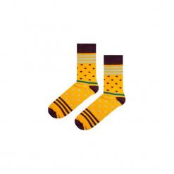 Skarpetki Yellow Stripes N Dots. Żółte skarpetki męskie marki Soxstory, w paski. Za 16,00 zł.