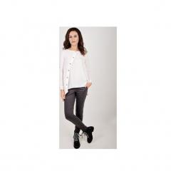 Koszula Capri biała. Szare koszule damskie marki Mohito, l, z asymetrycznym kołnierzem. Za 200,00 zł.