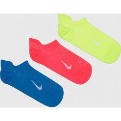 Nike - Skarpetki (3-Pack). Białe skarpetki damskie marki Nike, z bawełny. Za 49,90 zł.