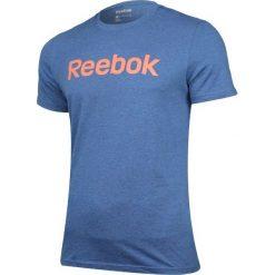 Reebok Koszulka męska EL Logo niebieskie r. S (B85918). Pomarańczowe koszulki sportowe męskie marki Reebok, z dzianiny, sportowe. Za 58,18 zł.