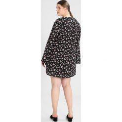 Sukienki hiszpanki: Missguided Plus FLORAL TIE NECK FLARED SLEEVE SWING DRESS Sukienka letnia black