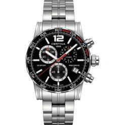 PROMOCJA ZEGAREK CERTINA GENT QUARTZ C027.417.11.057.00. Czarne zegarki męskie marki CERTINA, ze stali. W wyprzedaży za 2072,40 zł.