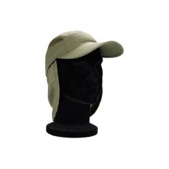 Czapka wędkarska z daszkiem 500. Brązowe czapki z daszkiem damskie marki CAPERLAN, z materiału. Za 39,99 zł.