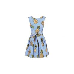 Sukienki krótkie Derhy  AIX. Niebieskie sukienki mini marki Derhy, l, z krótkim rękawem. Za 367,20 zł.