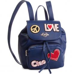 Plecak LOVE MOSCHINO - JC4082PP17LJ0750 Blu. Niebieskie plecaki damskie Love Moschino, ze skóry ekologicznej, klasyczne. Za 959,00 zł.