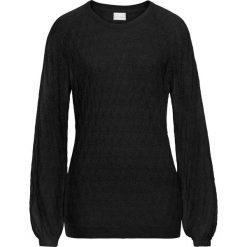 Swetry klasyczne damskie: Letni sweter ażurowy bonprix czarny