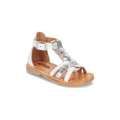 Sandały Dziecko  Citrouille et Compagnie  GITANOLO. Białe sandały dziewczęce marki Born2be, z materiału, na sznurówki. Za 169,00 zł.