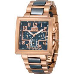 """Zegarki męskie: Zegarek kwarcowy """"Priamos"""" w kolorze różowozłoto-granatowym"""
