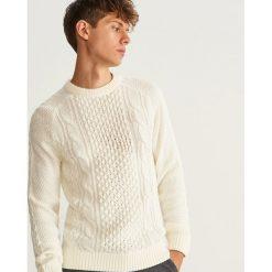 Sweter z raglanowym rękawem - Biały. Białe swetry klasyczne męskie marki Benetton, m. Za 139,99 zł.
